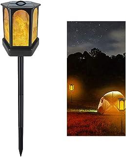 pedkit 96LED Luz Solar Chama Hexagonal Luz Lâmpada de Paisagem Ao Ar Livre Decoração de Iluminação para o Jardim Pátio Cam...