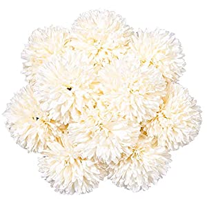 StarLifey 10PCS Artificial Flowers Silk Chrysanthemum Ball Hydrangea Flowers Bouquets Bulk Plastic Single Stem Table Centerpieces Home Party Wedding Floral Decor