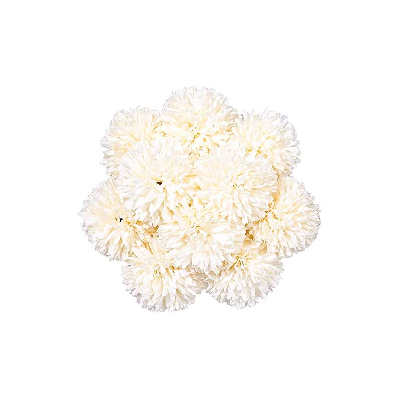 silk flower arrangements starlifey 10pcs artificial flowers silk chrysanthemum ball hydrangea flowers bouquets bulk plastic single stem table centerpieces home party wedding floral decor