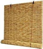 LLM Toldo Cortinas enrollables de Madera - Vertical Cortinas, sombreado y protección Solar, Fresco en Verano, bambú persianas for Ventanas y Puertas, persianas de Encargo