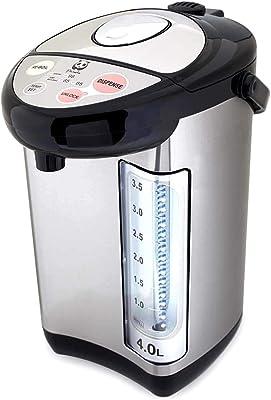 Panda Electric Hot Water Boiler and Warmer, Hot Water Dispenser, 304 Stainless Steel Interior (4.0 Liter, Stainlsess Steel/Black)