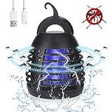 yipin Moustique Tueur Lampe Camping,2 en 1 Lampe Anti Moustique et Lanterne de...