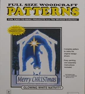 Glowing White Nativity Woodcraft Pattern