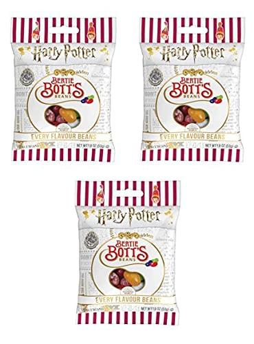 Jelly Belly Harry Potter Bertie Botts Every Flavour Jelly Beans 1.9 oz Bag (3 Pack)