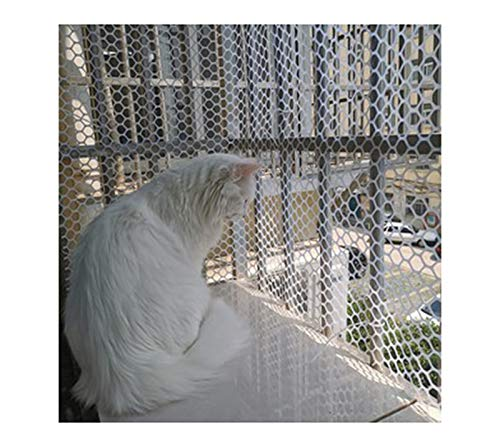 Baby Balcony Netting Balcony And Staircase Safety Netting To Prevent Cats From Falling Off The Balcony Fall Protection Netting (High Strength Polyester Netting: White,(Size:1.2CM Aperture,Color:White)