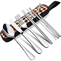 8-Pieces Elegant Life Knife Fork Spoon Chopsticks Cleaning Brush