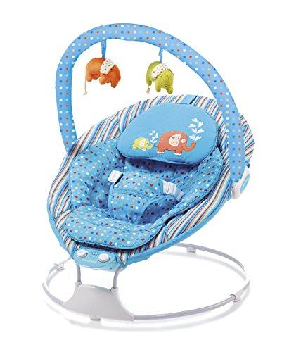 Asalvo 8404 - Hamaquita musical, diseño elefantes, color azul