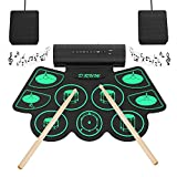 Electronic Drum Set Digital Roll-Up MIDI Drum Kit 9 Silicon Durm Pad Built-In