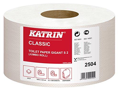 Katrin 2504 Classic Gigant S2 Toilettenpapier, 2-lagig (12-er Pack)