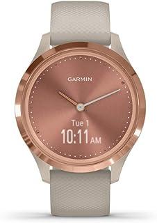 Garmin Vivomove 3S Hybrid Smartwatch (39mm, Rose Gold Stainless Steel Bezel/Light Sand Case, Silicone Band)