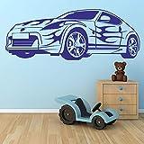 Sports car racing sports car coche vinilo etiqueta de la pared habitación baño decoración de la...