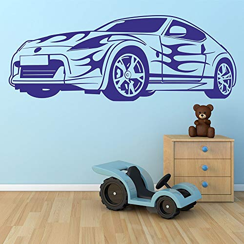 Sports car racing sports car coche vinilo etiqueta de la pared habitación baño decoración de la pared del hogar calcomanía de pared letras