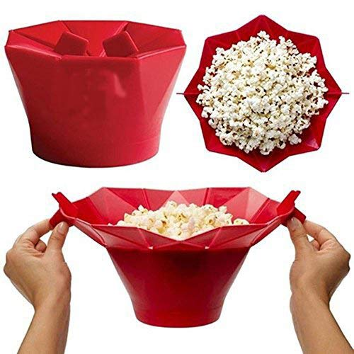 Sale!! Cuisine Microwave Popcorn Maker Portion Silicone Food Safe,Collapsible Silicone Bowl,Home & K...