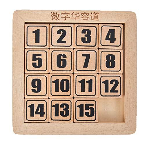 Houten wiskunde puzzels, nummerleerbord speelgoed met houten kist Montessori leerbord Ideaal voor peuter jongensmeisjes(EEN)