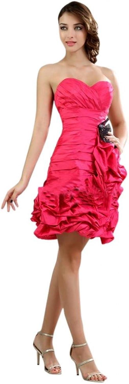 Scarlett Women's Strapless Shorty Taffeta Formal Prom Dress