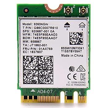 Intel Wireless-Ac 9260 2230 2X2 Ac+Bt Gigabit No Vpro