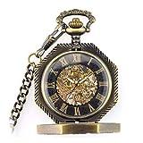 SKYEI Reloj de Bolsillo Elegante clásico.Reloj de Bolsillo para Hombres, Vintage Aniseed 12 en Punto a Cielo Abierto Roman Roman Watch Roman, como Día del Padre/Aniversario/Navidad,Punk (Color : A)