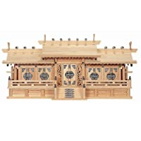 神棚 鳳凰五社・中(ひのき) No.180 日本製 神具セット付き