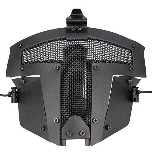 Fast AF casco Accesorios–Cool Paintball cara completa malla de acero protectora Sparta...
