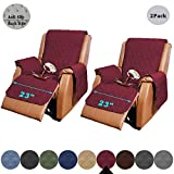 RBSC Home 23 Inch Recliner Chair Cover with Pockets 2 Pack of Waterproof Lazy Boy Chair Covers for Pets Dogs Cats