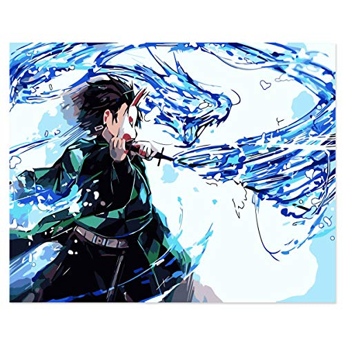Twenst Anime Paint by Numbers for Adults Manga Paint by Numbers for...