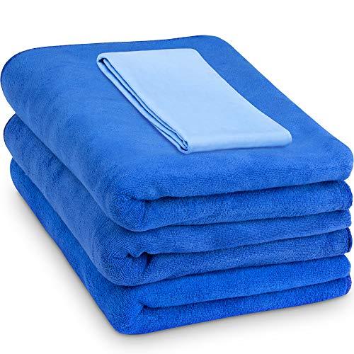 "Relentless Drive Large Car Drying Towel 24"" x 60"" (3 Pack) - Microfiber Car Wash Towels, Ultra..."