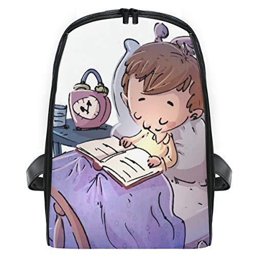 ELIENONO Kinderbett lesen,Laptop Rucksack für Männer Schulrucksack Multifunktionsrucksack Mini Tagesrucksack für Schule Wandern Reisen Camping
