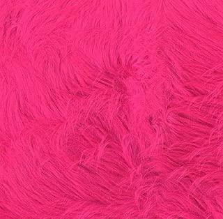 Shannon Faux Fur Luxury Shag Hot Pink