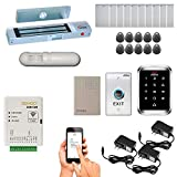 Zemgo FPC-8440 Smart Mobile WiFi Controller for Access Control with Android + Apple App, Web Browser + Smartphone Remote Viewing, Outswing Door 300lbs Maglock, Weatherproof Keypad/RFID Reader + PIR