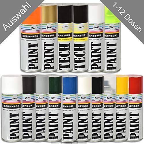 1 x HSM Klarlack Spraydose Farbdose Glanzfarbe Gloss/Matt Lack Sprühfarbe BUNT 400 ml