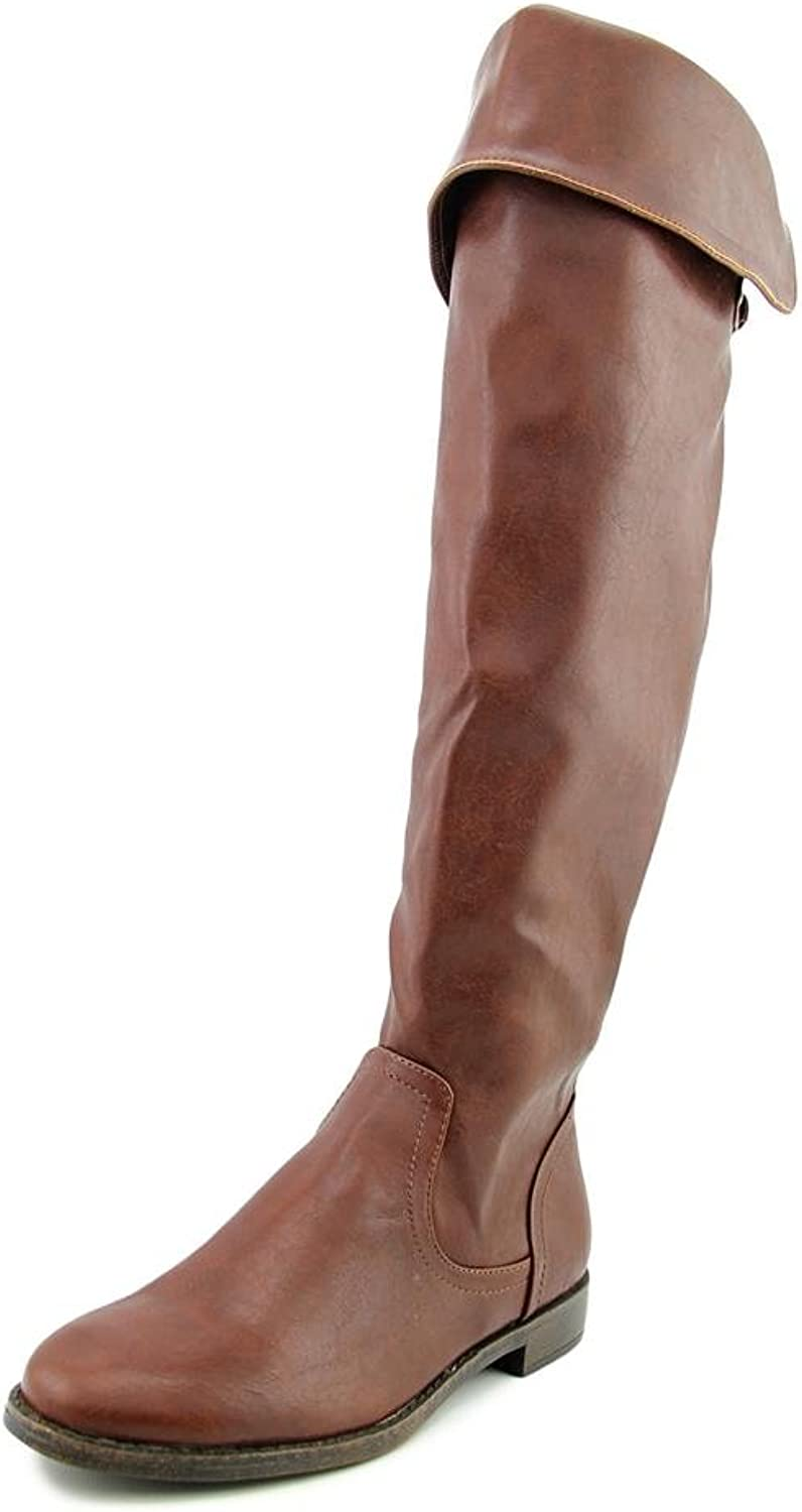 Pink & Pepper Womens Zolly Knee-High Buckles Dress Boots