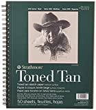 Strathmore 412-9 Tan Drawing 400 Series Toned Sketch Pad, 9'x12', 50 Count