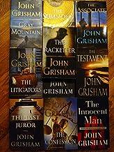 Set of 10 John Grisham Hardcover Thrillers: Gray Mountain; The Summons, Racketeer, Associate, Litigators, Appeal, Testamen...