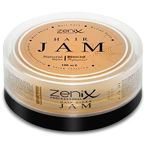 ZENIX Hair Jam – Haarwachs – Extra Langer Halt – Leichtes Modellieren – Für Feuchtes und Trockenes Haar – Natural Look – Mit Frischekick Durch Zitrusextrakt