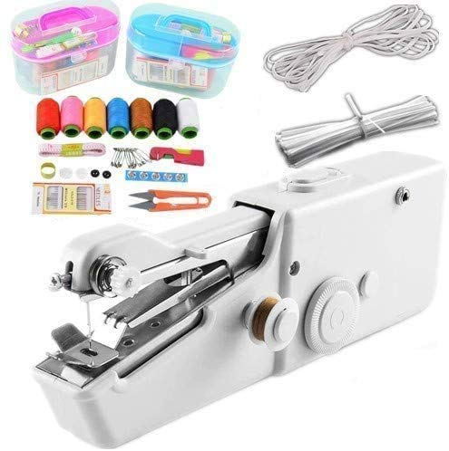 Review Handheld Sewing Machine, Cordless Electric Sewing Machine with Thread Kit 3 Meters Elastic Co...