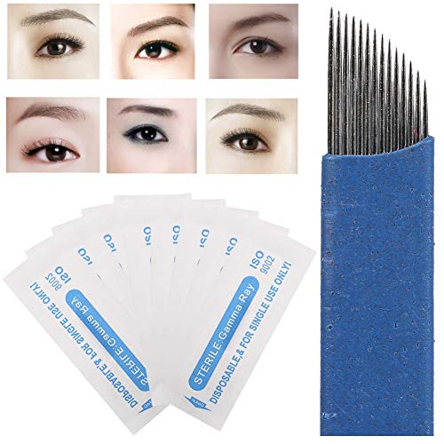 Stylo permanent microblading manuel pour tatouage des sourcils(50PCS)