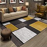 alfombra mostaza y marron