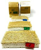 Greenw0rld® Luffolle | 100% ökologisch | 3er Set waschbarer Reinigungsschwamm, Küchenschwamm, Spülschwamm, Geschirrschwamm, Putzschwamm | Plastikfreie Alternative für Geschirr, Oberflächen & Körper