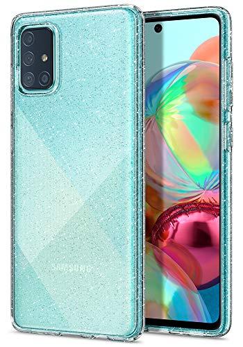 Spigen Cover Liquid Crystal Glitter Compatibile con Samsung Galaxy A71 - Crystal Quartz