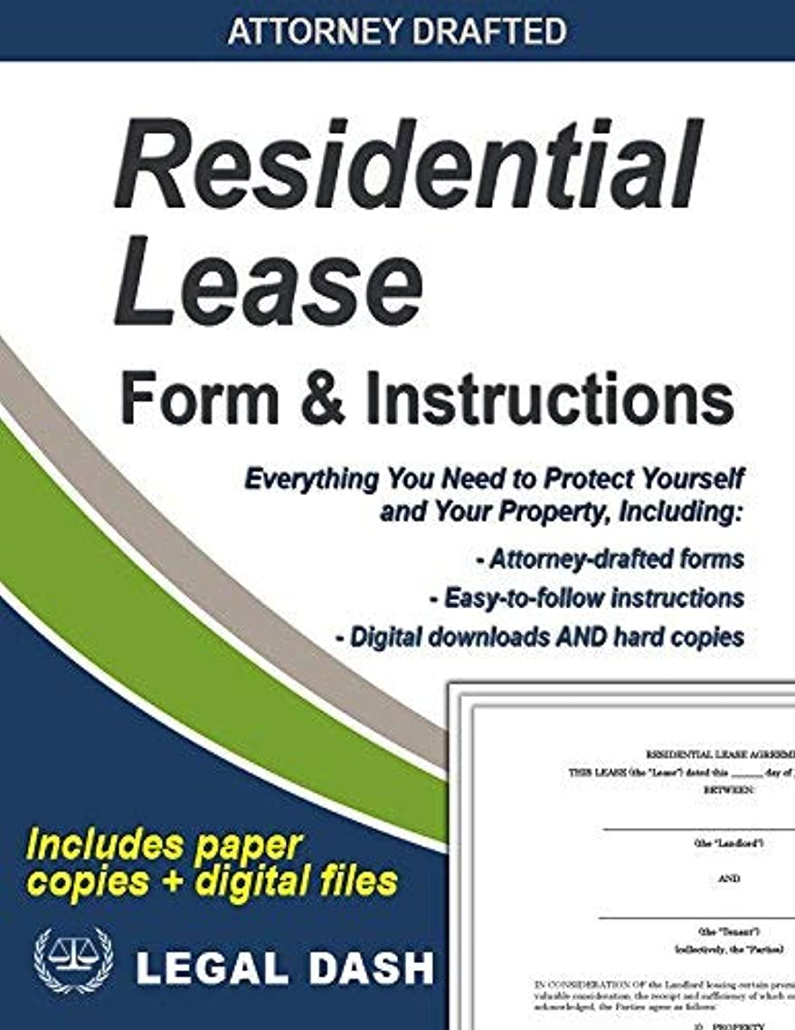 Residential Lease Form - Comes with Instructions, FAQs, Checklist, and Digital Downloads – Do It Yourself Residential Lease Agreement Forms