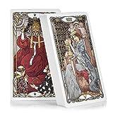 YUNDING Tarot Cards 78pcs Tarjetas De Cubierta con Tarjetas De Guía Divination Book Sets para Principiantes Estilo Art Nouveau Clásico