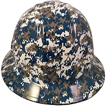 American Camo Hydro Dipped Full Brim Hard Hat with Ratchet Suspension