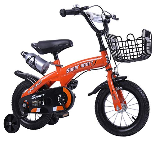 XIAOTING 12/14/16/18 Inch Children Bike,Child Bicycle Study Learning Riding Bike with Training Wheels and Bell for 2-9 Years (Color : Red, Size : 12 inches)