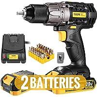 TECCPO 20V Cordless Drill Driver Kit