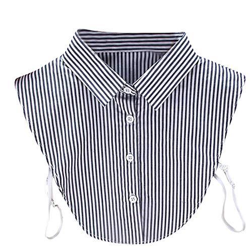 Für Hemd, abnehmbare Kragen, für Damen, gestreifte Bluse, falscher Kragen,...