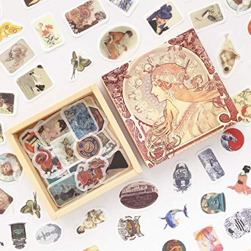 XXCKA Retro Wind Serie Box Journal Decoration Sticker Scrapbooking DIY Diario Album Stick 200 pezzi/Pack