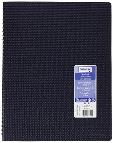 Blueline Duraflex Poly Notebook, Blue, 11 x 8.5 inches, 160 Pages (B41.82) (Rediform Executive Notebook)