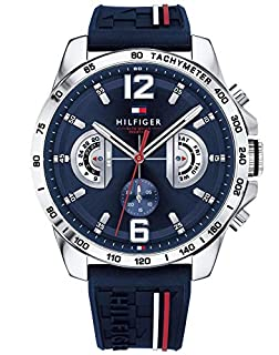 Tommy Hilfiger Reloj Multiesfera para Hombre de Cuarzo con Correa en Silicona 1791476 (B079QQ34RL) | Amazon price tracker / tracking, Amazon price history charts, Amazon price watches, Amazon price drop alerts