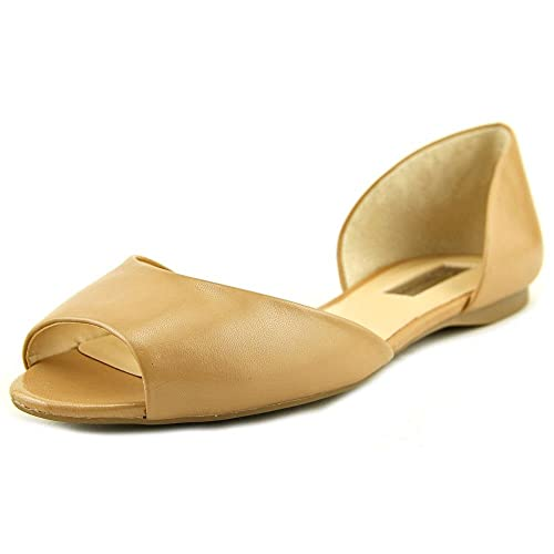 e43ad39f231 INC International Concepts Womens elsah Peep Toe Casual Slide Flats Sandals  Sable 7.5 M US