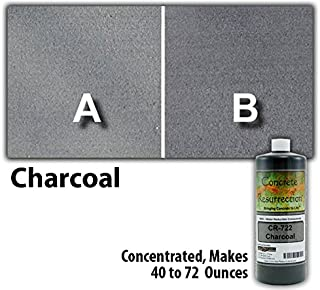 Concrete Stain Concentrate Just Add Water, User & Eco-Friendly Semi-Transparent Professional Grade Cement Stain, Concrete Resurrection Brand (8 ounce, Charcoal)